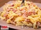 Рецепта Спагети с бекон и сметана